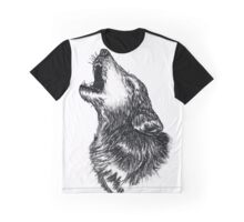 Wolf Sketch Graphic T-Shirt