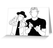 Justin Bieber and Cody Simpson Greeting Card