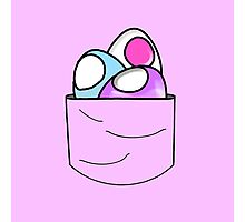 Easter Eggs Pocket Photographic Print