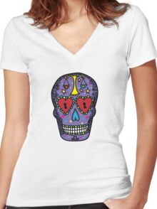 Libra Women's Fitted V-Neck T-Shirt