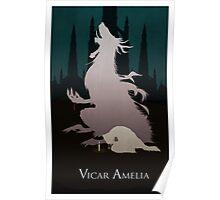 Bloodborne Minimal Art - Vicar Amelia Poster