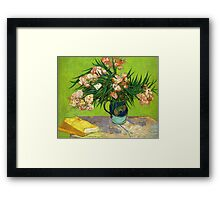 Books and Oleander Framed Print