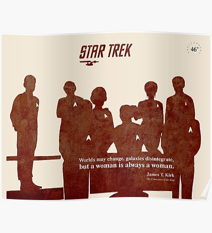 Red Star Trek Crew Poster