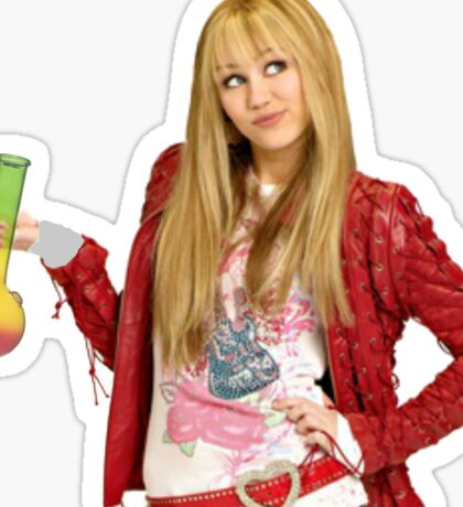 Hannah Montana with a Bong Sticker