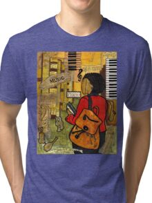 Urban Music Student Tri-blend T-Shirt