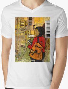 Urban Music Student Mens V-Neck T-Shirt