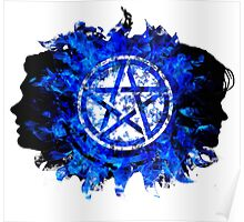Sam and Dean with Pentagram ~ Supernatural Poster