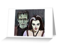 Lily and Herman Munster Greeting Card