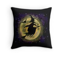 Halloween Witch Throw Pillow