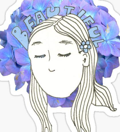 Beautiful Blu Sticker