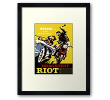 Dragstrip Riot Framed Print