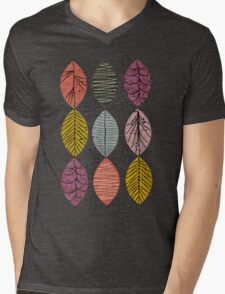 Nature Leaves by Seasons Mens V-Neck T-Shirt