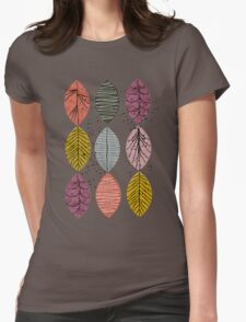 Nature Leaves by Seasons Womens Fitted T-Shirt