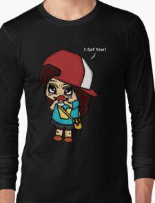 I Got You! Pokemon Trainer Girl (In Black Background) Long Sleeve T-Shirt