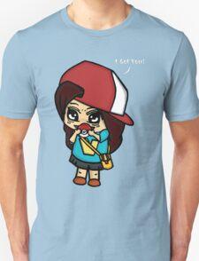 I Got You! Pokemon Trainer Girl (In Black Background) Unisex T-Shirt
