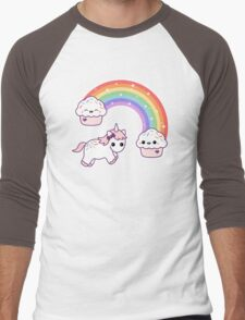 Cute Cupcake Unicorn Men's Baseball ¾ T-Shirt