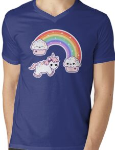 Cute Cupcake Unicorn Mens V-Neck T-Shirt