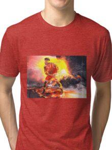 Jimmy Butler On Fire Tri-blend T-Shirt