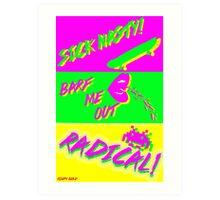 80's Catchphrases Art Print