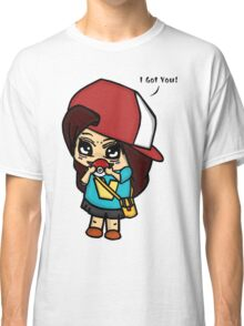 I Got You! Pokemon Trainer Girl (In White Background) Classic T-Shirt