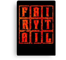 Fairy Tail in the Box - Fire Mode Canvas Print