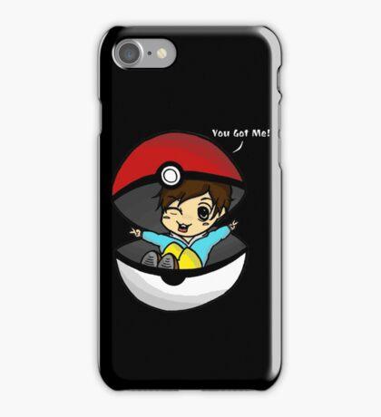 You Got You! Pokemon Trainer Boy (In Black Background) iPhone Case/Skin