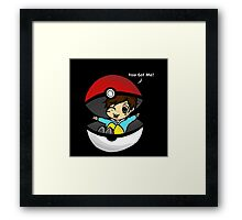 You Got You! Pokemon Trainer Boy (In Black Background) Framed Print