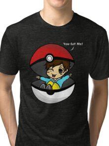 You Got You! Pokemon Trainer Boy (In Black Background) Tri-blend T-Shirt