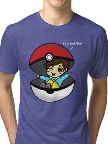 You Got You! Pokemon Trainer Boy (In Black Background) Tri-blend T-Shirt