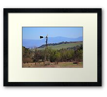 Santa Rosa Plateau - winter 2016 Framed Print