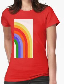 Groovy Rainbow Womens Fitted T-Shirt
