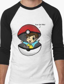 You Got Me! Pokemon Trainer Boy (In White Background) Men's Baseball ¾ T-Shirt
