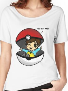 You Got Me! Pokemon Trainer Boy (In White Background) Women's Relaxed Fit T-Shirt