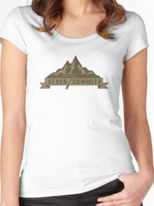 Seven Summits (Brown) Women's Fitted Scoop T-Shirt