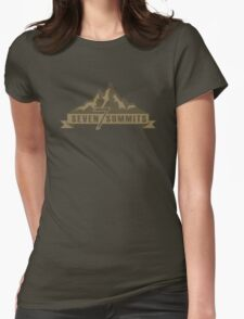 Seven Summits (Brown) Womens Fitted T-Shirt