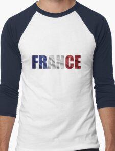 France Men's Baseball ¾ T-Shirt