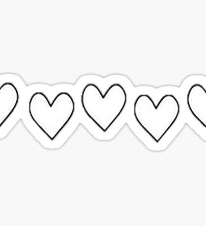 Love hearts Sticker