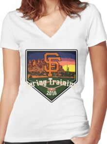 San Francisco Giants Spring Training 2016 Women's Fitted V-Neck T-Shirt