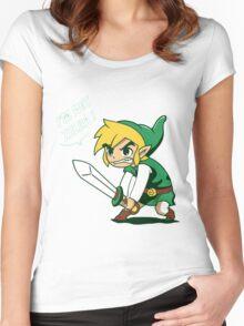 Link - I'm Not Zelda Women's Fitted Scoop T-Shirt