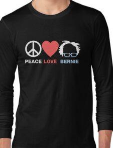 Peace Love Bernie Long Sleeve T-Shirt