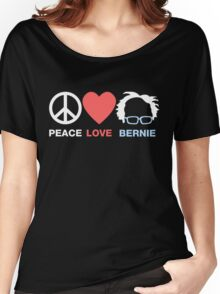 Peace Love Bernie Women's Relaxed Fit T-Shirt