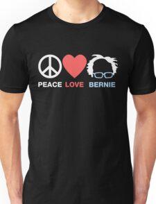 Peace Love Bernie Unisex T-Shirt
