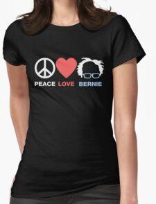 Peace Love Bernie Womens Fitted T-Shirt