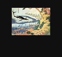 'Ocean Landscape and Whale' by Katsushika Hokusai (Reproduction) Unisex T-Shirt