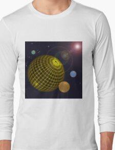 3D Planets Long Sleeve T-Shirt