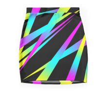 Spikes CYMK (black) Mini Skirt