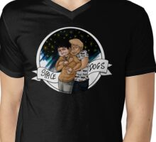 Just silly cute spacedogs cuddles Mens V-Neck T-Shirt