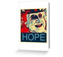 PENGUIN HOPE POSTER BATMAN  Greeting Card