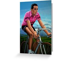 Fausto Coppi Painting Greeting Card