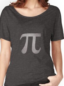 Silver Pi Symbol Women's Relaxed Fit T-Shirt
